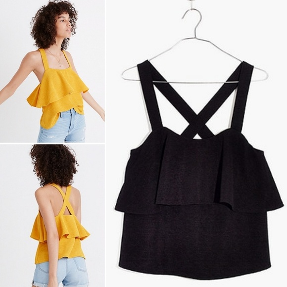a2cba11a5fa255 Madewell Tops - MADEWELL Texture   Thread Tiered Tank Top